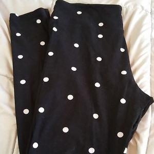 Lularoe Black polka dot leggings